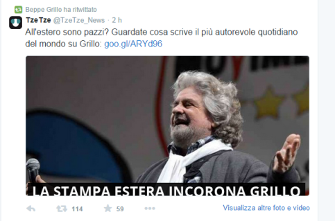 retweet grillo